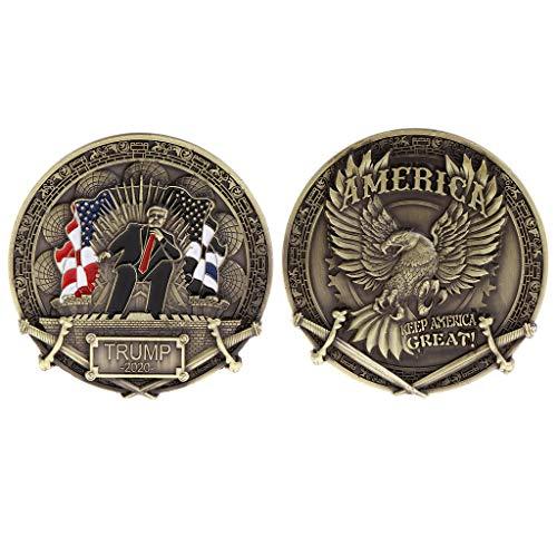 Balain moneta commemorativa, trump 2020della america stati uniti, keep america great, souvenir monete
