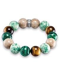 "Thomas Sabo ""Power Brown, Green"" Bracelet of Length 15cm"