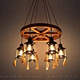 Paramètres du produit:Le type de lampes en bois:suspenduslampes en forme:suspendusFeux sont le principal matériau:Boisl'abat-jour pour le principal matériau:Fer à RepasserLight source:type d'IncandescentEnergy LampLEDProcessus:CarvedAlimen...