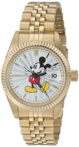 Invicta 22775 Disney Limited Edition - Mickey Mouse Damen Uhr Edelstahl Quarz silbernen Zifferblat