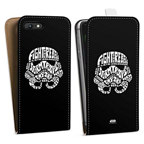Apple iPhone 8 Plus Hülle Case Handyhülle Star Wars Merchandise Fanartikel Storm Trooper Typo Downflip Tasche weiß