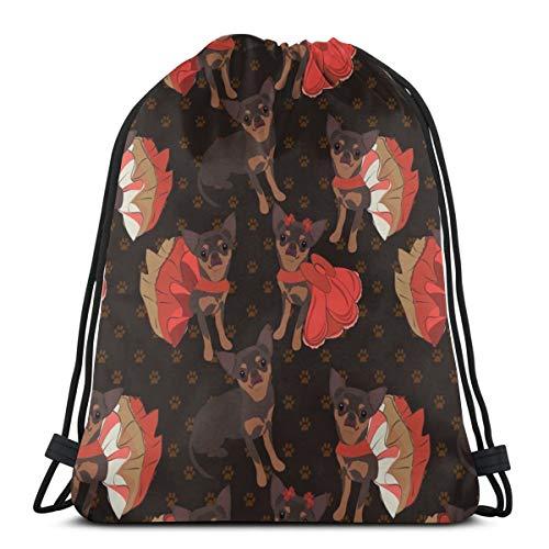 In Poppy_306 Rucksack mit Kordelzug Rucksack Umhängetaschen Leichte Sporttasche zum Wandern Yoga Gym Schwimmen Travel Beach ()