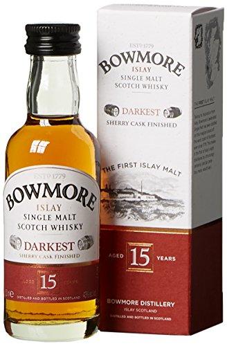 Bowmore 15 Jahre Darkest mit Geschenkverpackung Whisky (1 x 0.05 l)