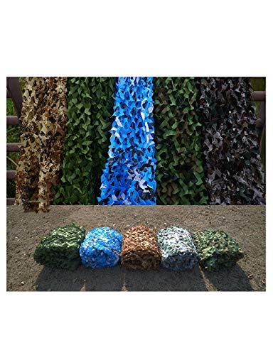 Flugabwehr-Dschungel-Tarnung-Netz, Sonnenschirm-Netz-Jagd-bewaffnetes Zelt, im Freien, Thema-Partei-Dekoration, Armee-Art-Tarnungs-Netz und Gitter-Unterstützung ( Color : OCEAN , Size : 6×6M )