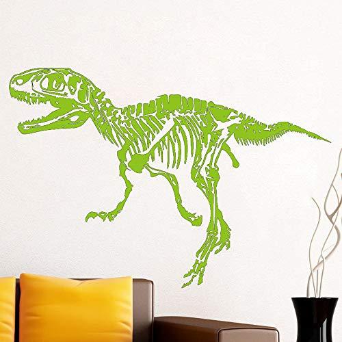 Lustige Vinyl Wandtattoo T-Rex Fossil Kreative Wandaufkleber Jungen Zimmer Dinosaurier Decals Kunstwand Tapete vinilos paredes blau 62x42 cm -