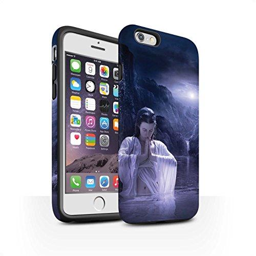 Officiel Elena Dudina Coque / Matte Robuste Antichoc Etui pour Apple iPhone 6 / Rêveur Design / Un avec la Nature Collection Lagune À la Nuit