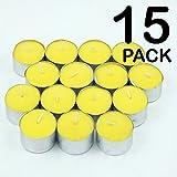 Candeline alla citronella, confezione da 15, candeline per giardino contro insetti, mosche e zanzare, repellenti, Pack of 15