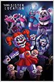 Five Nights at Freddy's Poster Sister Location Group (93x62 cm) gerahmt in: Rahmen weiss