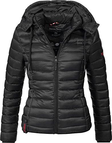 Marikoo Damen Jacke Übergangs-Jacke Steppjacke Ein Und Alles (vegan hergestellt) Schwarz Gr. M