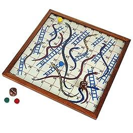 In legno gioco classico serpente e scaletta con lavagna magnetica e pezzi