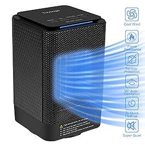 Toyuugo Portable Fan Heater Personal Space Heater 950w