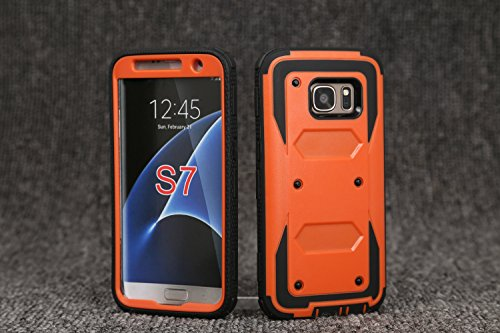 3 en 1 Coque iPhone 6 Plus / 6S Plus, Yihya Hybride PC Rigide + souple en silicone TPU Gel [Rugged Armor] Resilient [Orange] Ultimate Housse de protection pour Apple iPhone 6 Plus / 6S plus 5,5 pouces Orange