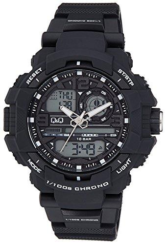 Q&Q Reloj Hombres de GW86J001Y analógica/Digital con Correa de Resina