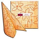 Tata Airlaid Servietten Stoffähnlich 40x40cm 50 Stück pro Packung Hochwertig Stoffoptik Hochzeitsservietten Ornament Geburtstag Hochzeit in arancio/orange