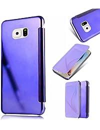 Galaxy S6 Edge Plus Caso,MingKun Samsung Galaxy S6 Edge Plus Funda de Cuero Funda Libro de Cuero Impresión de Suave PU Premium Cuero Fundas Protección De Cuerpo Completo Carcasa Case