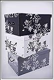 3er Set Aufbewahrungsbox in 3 Farben mit jeweils 45 Liter