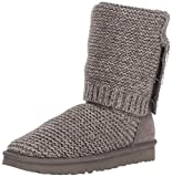 Ugg Australia Mujer Purl Cardy Knit Textile Leather Charcoal Botas 39 EU