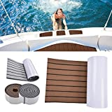 jinclonder Eva Teak Decking Sheet Bootsbodenbelag, rutschfeste Bootsmatte, Selbstklebende Bootspads, ungiftig und harmlos, schmutzabweisend, leicht zu schneiden