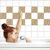 Fliesenaufkleber für Küche und Bad | Fliesenfolie für 15x20cm Fliesen | Mosaik Sand matt | 24 Stück | Klebefliesen günstig in 1A Qualität von PrintYourHome