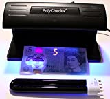 PolyCheck 9W UV Bank Note Checker + Spare DuraBulb® Bulb - Detects Forged Money