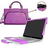 """Labanema Envy 17 Housse,2 en 1 spécialement conçu Étui de Protection en Cuir PU + Sac Portable Sacoche pour 17.3"""" HP Envy 17 17-u000 17-ae000 Series Ordinateur,Violet"""