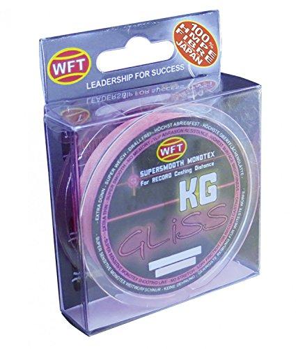 WFT Gliss KG Monotex Line 150m, geflochtene Schnur, Meeresschnur, Angelschnur, Geflechtschnur, Farbe:Pink, Durchmesser/Tragkraft:0.18mm/11kg Tragkraft