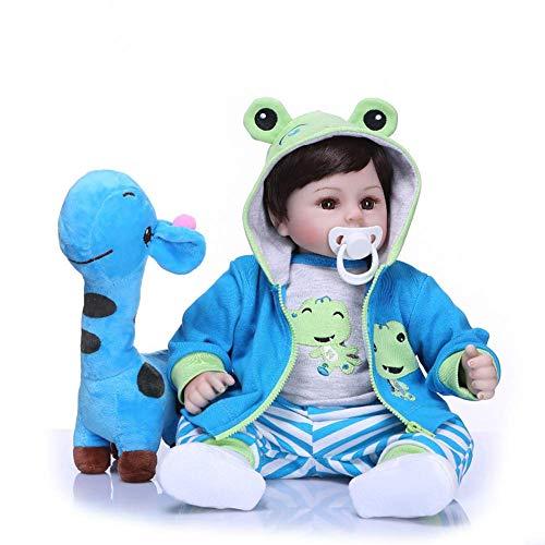 Danping Baby Dolls Weiche Silikon Realistische Reborn Baby Boy Puppe Tuch Körper Real Life Wie Neugeborene Puppen Spielzeug 18 zoll - Tuch Baby Puppe
