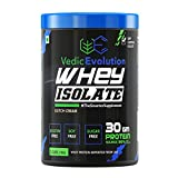 Vedic evolution's whey protein isolate pective muscle regeneration and restoration. This is only possible through adequate amount of high quality proteins. Whey protein isolate contain the highest percentage of pure protein and is low in carbohydrate...