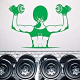 Wandtattoo Vinyl Abnehmbare Wand Dekoration Gym Muskeln Mädchen Schöne Körper Hanteln Kunst...