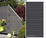 Sichtschutz Polyrattan Geflecht anthrazit, 178 x 88cm - Sichtschutz, Sichtschutz Elemente, Sichtschutzwand, Windschutz