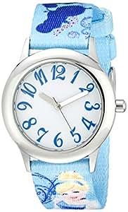 Disney Kids' W000416 Disney Tween Cinderella Stainless Steel Printed Strap Watch