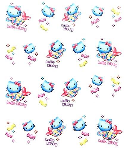 CartoonPrintDesign - 2 Stück Nagel Sticker Cartoon Water Transfer Sticker Nailart Wasser Nagelsticker Nagel Tattoo Nagelaufkleber Hello Kitty Cartoon Design - B1668