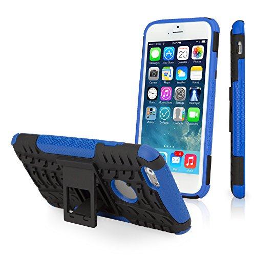 BoxWave Resolute OA3 iPhone 6 Coque hybride souple/ferme Coque avec 3 couches durables pour iPhone 6 Étuis et housses pour Tenacious (Bleu)
