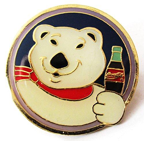 Coca Cola - Eisbär mit Flasche - Pin 31 mm