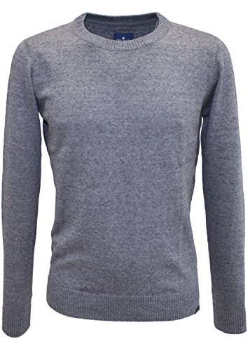 TOM TAILOR Herren Pullover grau (Smoked Pearl Grey 2103)