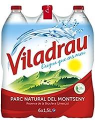 Viladrau Agua Mineral Natural - Pack de 6 x 1,5 l - Total: 9 l