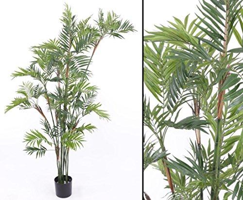 Kunstpalme Parlour mit 15 Stämmen und 1232 Blätter, Höhe 200cm - Kunstpflanze Kunstbaum künstliche Palmen Kunstpalmen Dekopalmen Palmen Palmbäume