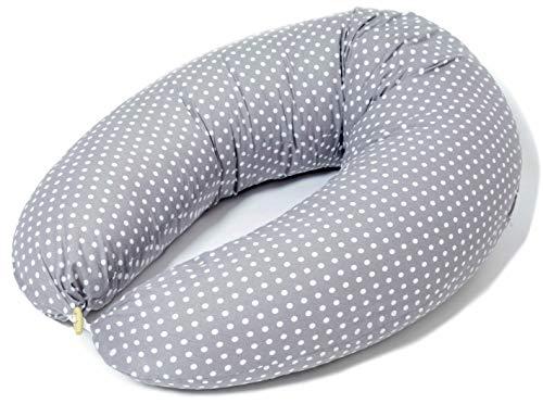 Cojin Lactancia Bebe & Almohada Embarazo Dormir | Funda Cojin 100% Algodon Color Gris con...