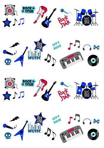 50-decorazioni-per-torta-in-wafer-autosupportate-tema-rock-star-musica-chitarra-per-ragazzo