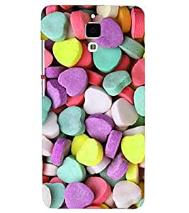 PRINTSHOPPII HEART CANDIES Back Case Cover for Xiaomi Redmi Mi4::Xiaomi Mi 4