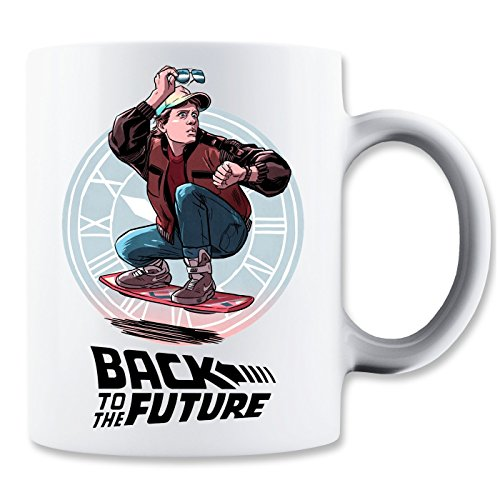 Back To The Future Marty McFly Black Logo Klassische Teetasse Kaffeetasse