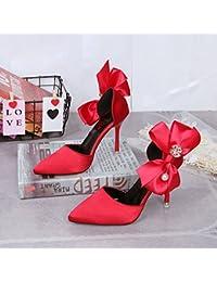 Donyyyy Señora sandalias,gules,37  Zapatos de moda en línea Obtenga el mejor descuento de venta caliente-Descuento más grande