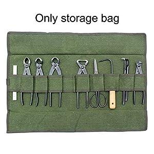 Bolsa de almacenamiento para herramientas de jardín, organizador de herramientas de jardinería con múltiples bolsillos, plegable, resistente al desgaste y reutilizable Tamaño libre verde