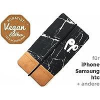 iPhone-Tasche Marble Black / Handytasche / Smartphone Case / Vegane Handytasche / Vegane Accessoires / Geschenk zum Muttertag