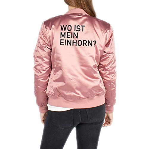 Wo Ist Mein Einhorn Bomberjacke Girls Rosa Certified Freak-XL