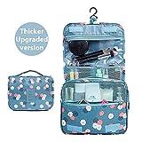 Emwel appeso Toiletry Organizer Travel trousse per donne e uomini - perfetto per viaggio / all'aperto (Fiore blu cielo) immagine