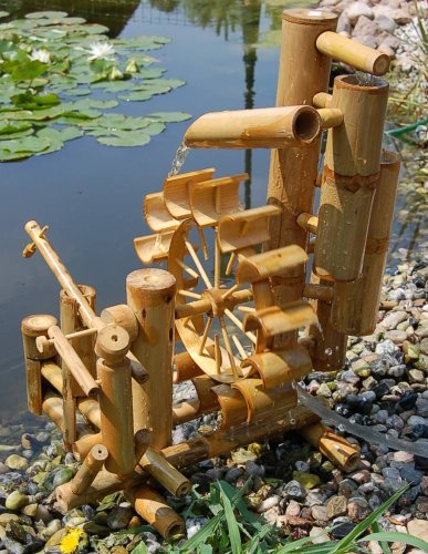 Wilai Bambus Wasserspiel Gartendeko ...