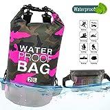RUICHUANGS Borsa Impermeabile Cinghie Regolabili, Dry Bag Waterproof Leggero & Durevole per attività Outdoor - Spiaggia, Canottaggio, Pesca, Kayak, Nuoto, Rafting, Camping10L 20L