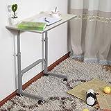 DNZXK Mobiler Computer Schreibtisch Desktop, Freies Heben Einfach Umweltschutz Mit Rädern Entfernbar,White,80 * 40Cm
