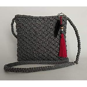 "Handgemachte Macramé-Tasche. Einzelstück. Modell""Lia""."